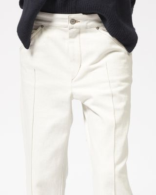 ISABEL MARANT TROUSER Woman GOLKY cropped denim trousers r