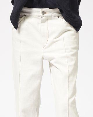 ISABEL MARANT PANTALON Femme Pantalon en denim crop GOLKY r
