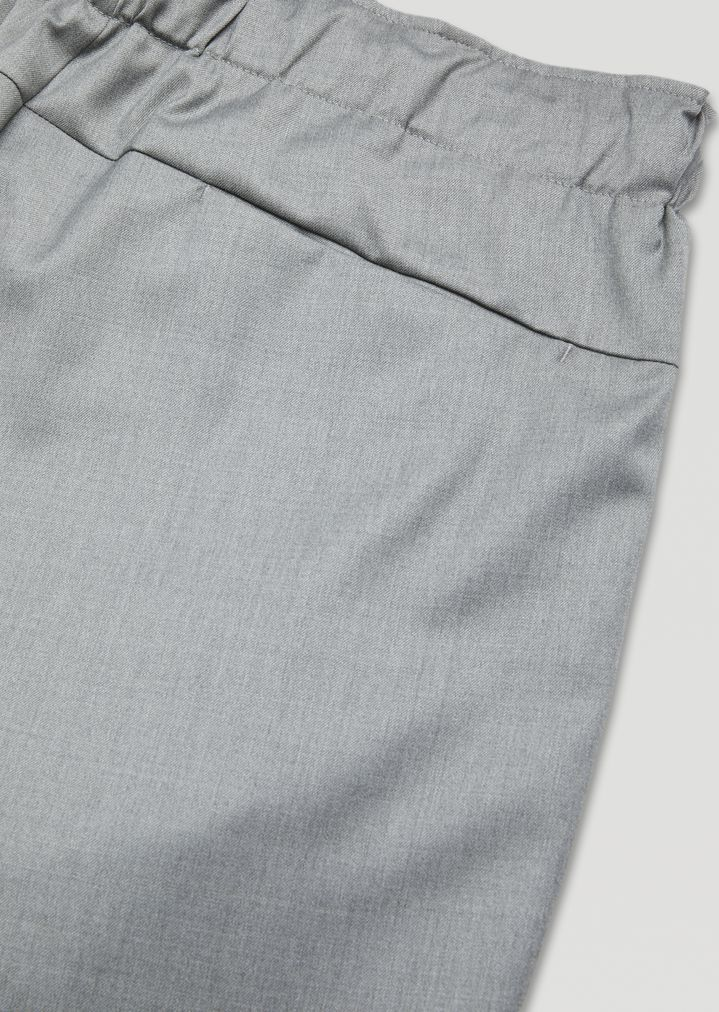 EMPORIO ARMANI Drawstring trousers in lightweight wool Casual Trousers Man b