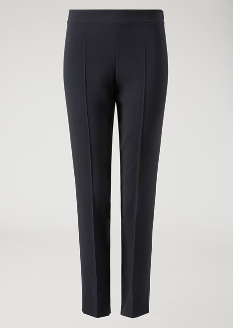 Cady cigarette trousers with hem slits