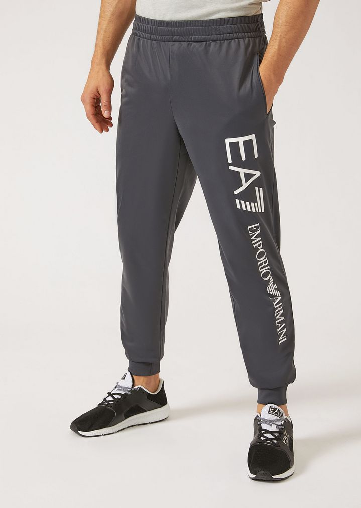 14cb2a4fe4 Technical fabric joggers with contrasting maxi logo | Man | Ea7