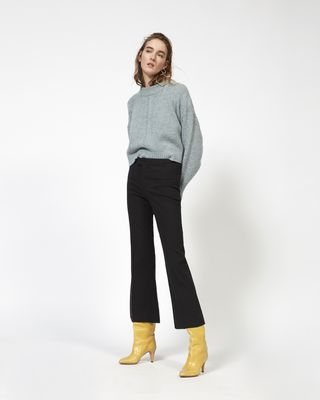 NYREE flared stretch trousers