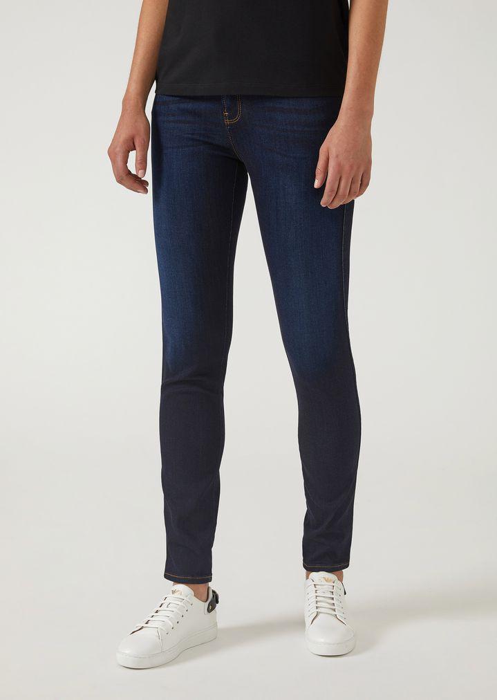 J20 super skinny jeans in stretch denim   Woman   Emporio Armani 37eae6ab502