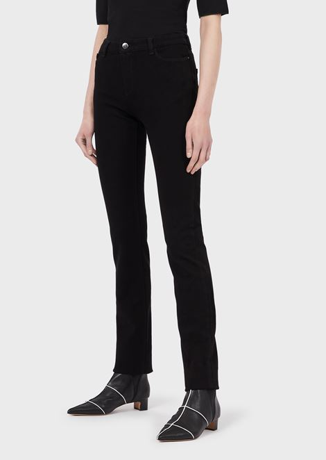 J85 straight slim jeans in stretch denim