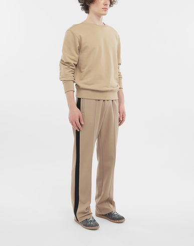 TROUSERS Polyester blend track pants Light brown