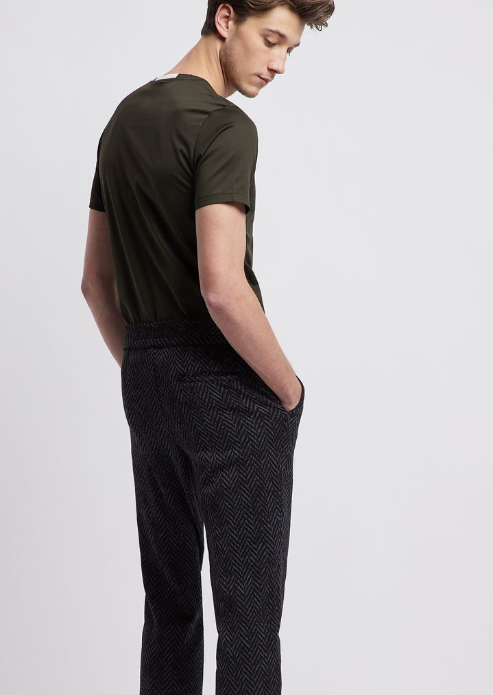 99f8b1447a Jogging trousers in jersey with geometric pattern