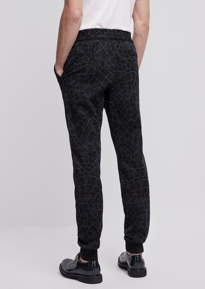 b32064caed Jogging pants in jersey with geometric pattern | Man | Emporio Armani