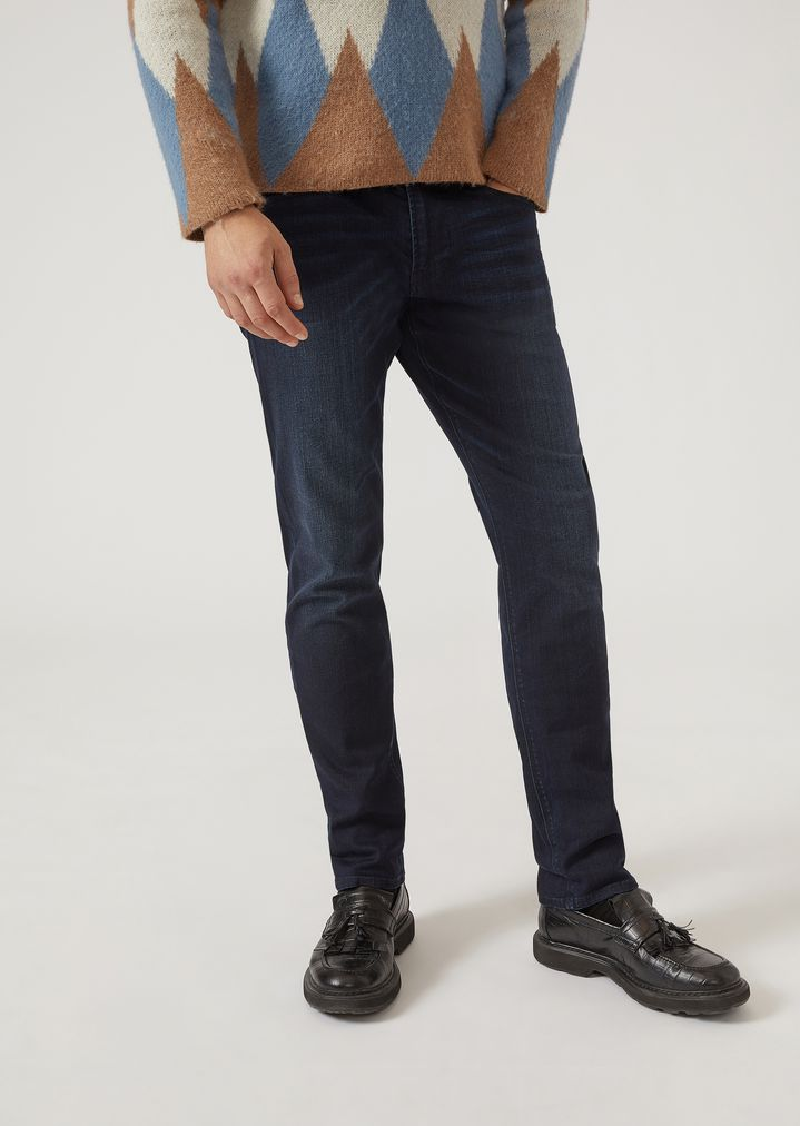 7573e51e J06 dark wash comfort denim slim fit jeans | Man | Emporio ...