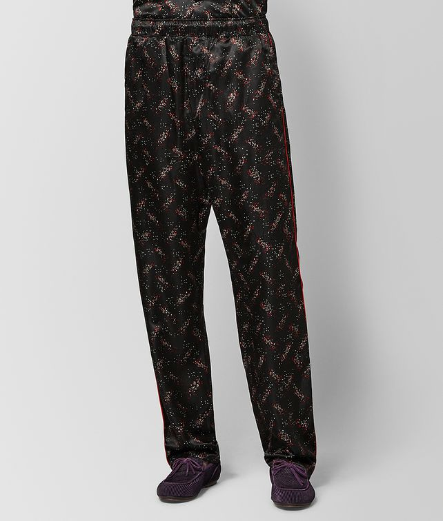 BOTTEGA VENETA NERO/NEW RED SILK PANT Trousers and Shorts Man fp