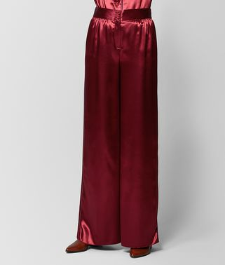 PANTALON EN SATIN BACCARA ROSE