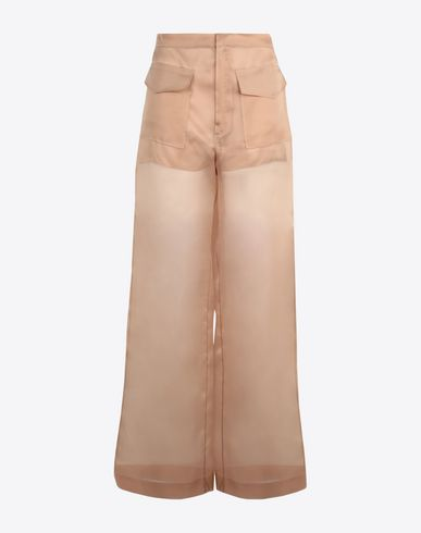MAISON MARGIELA Trousers [*** pickupInStoreShipping_info ***] Silk organza trousers f