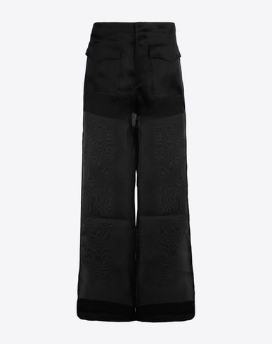 MAISON MARGIELA Trousers [*** pickupInStoreShipping_info ***] Oversized silk organdis pants f