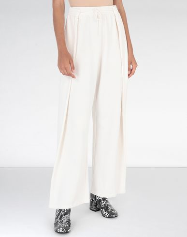 MM6 MAISON MARGIELA Trousers Woman High-waisted jersey trousers f