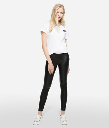 KARL LAGERFELD K/IKONIK LEATHER LEGGINGS