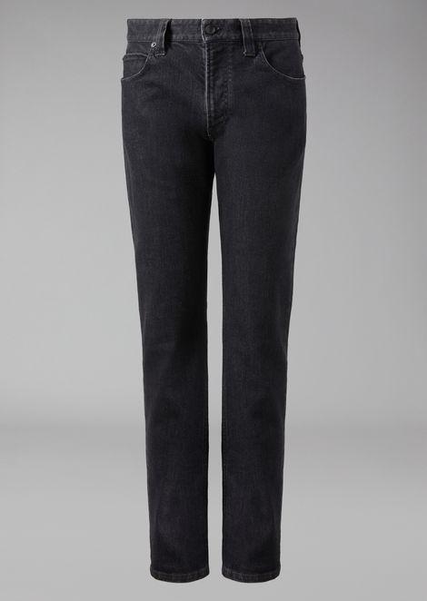 Regular Fit Slub Denim Jeans