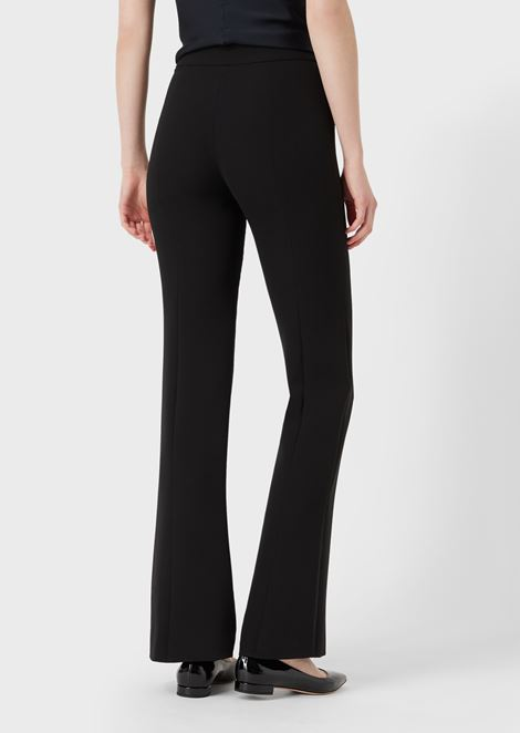 Pure silk crepe palazzo trousers