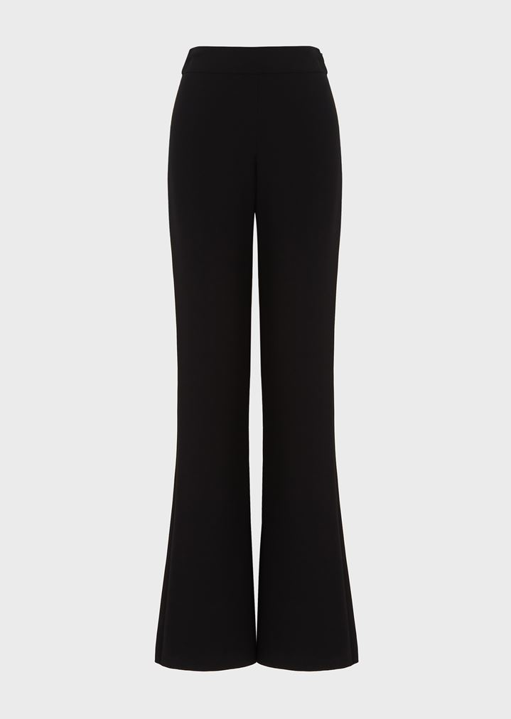 35c309b7b0 Pure silk crepe palazzo trousers