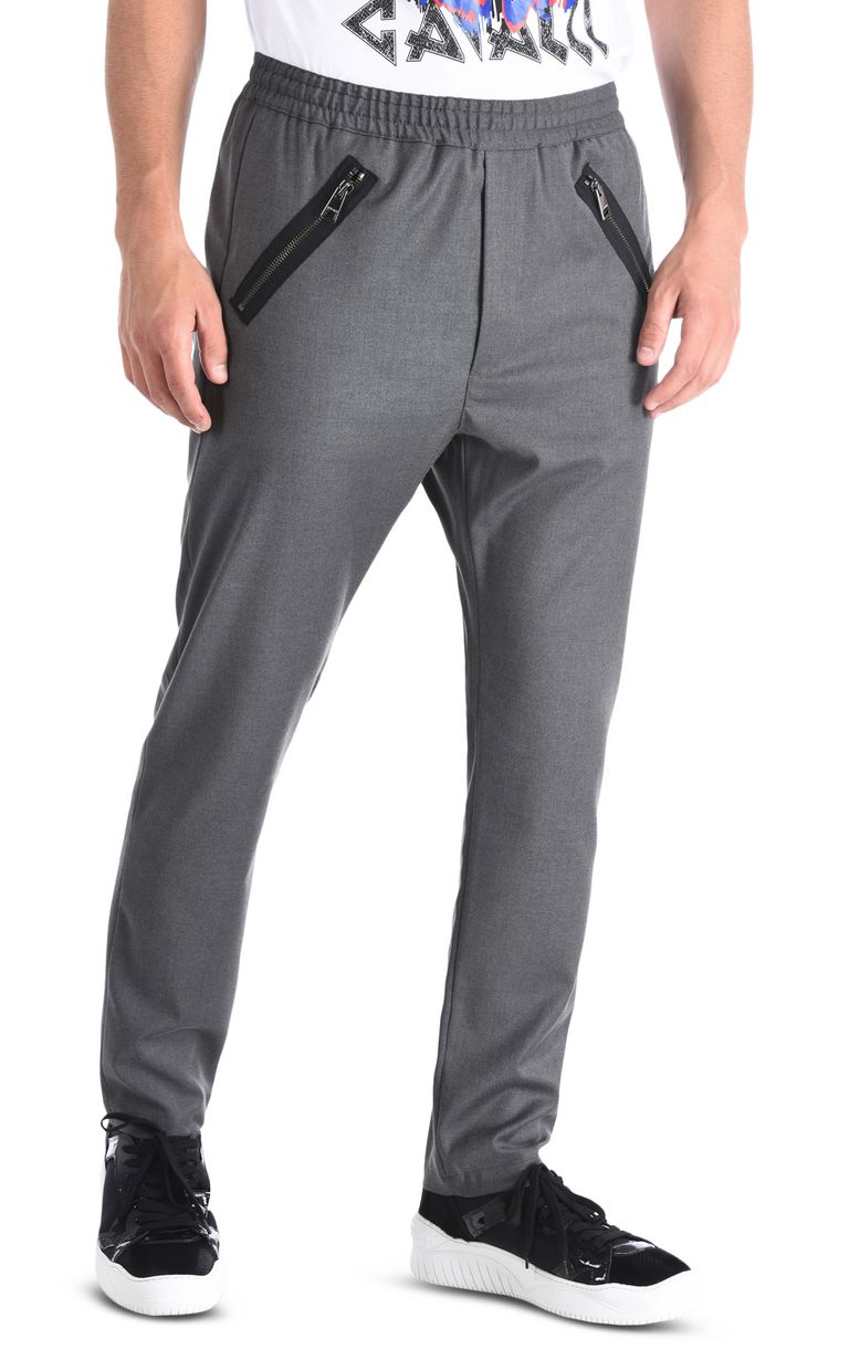 JUST CAVALLI Classic trousers with details Casual pants Man f