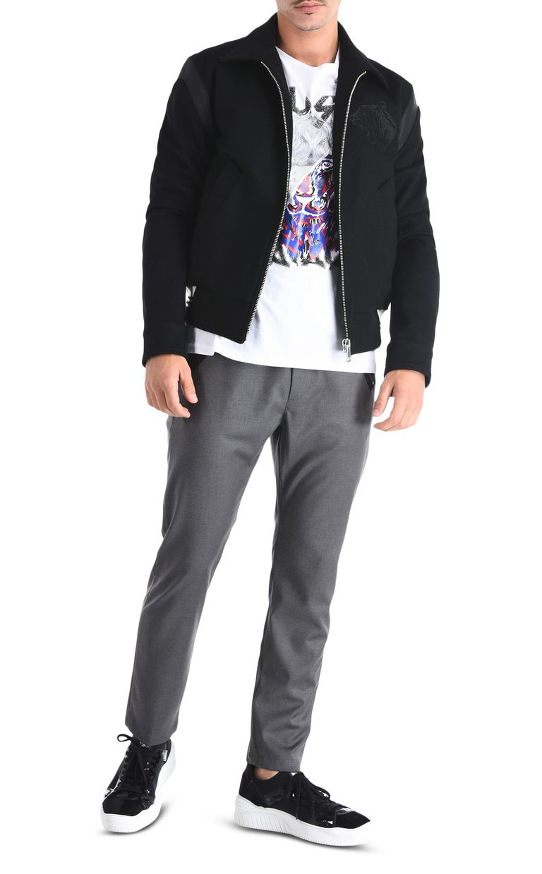 JUST CAVALLI Classic trousers with details Casual pants Man r