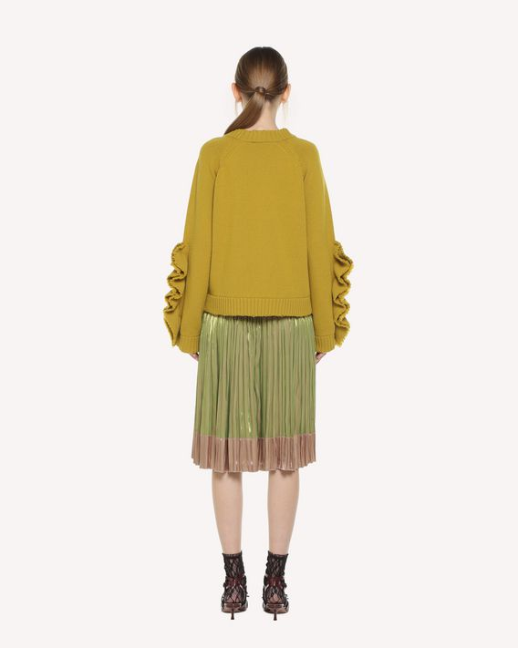 REDValentino Pleated Fluid Iridescent skirt