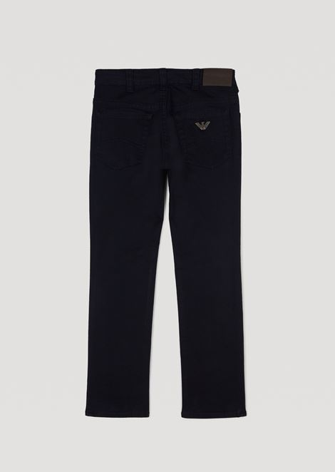 Jeans in stretch cotton gabardine