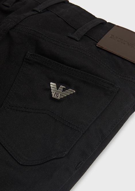 Jeans in stretch cotton gabardine