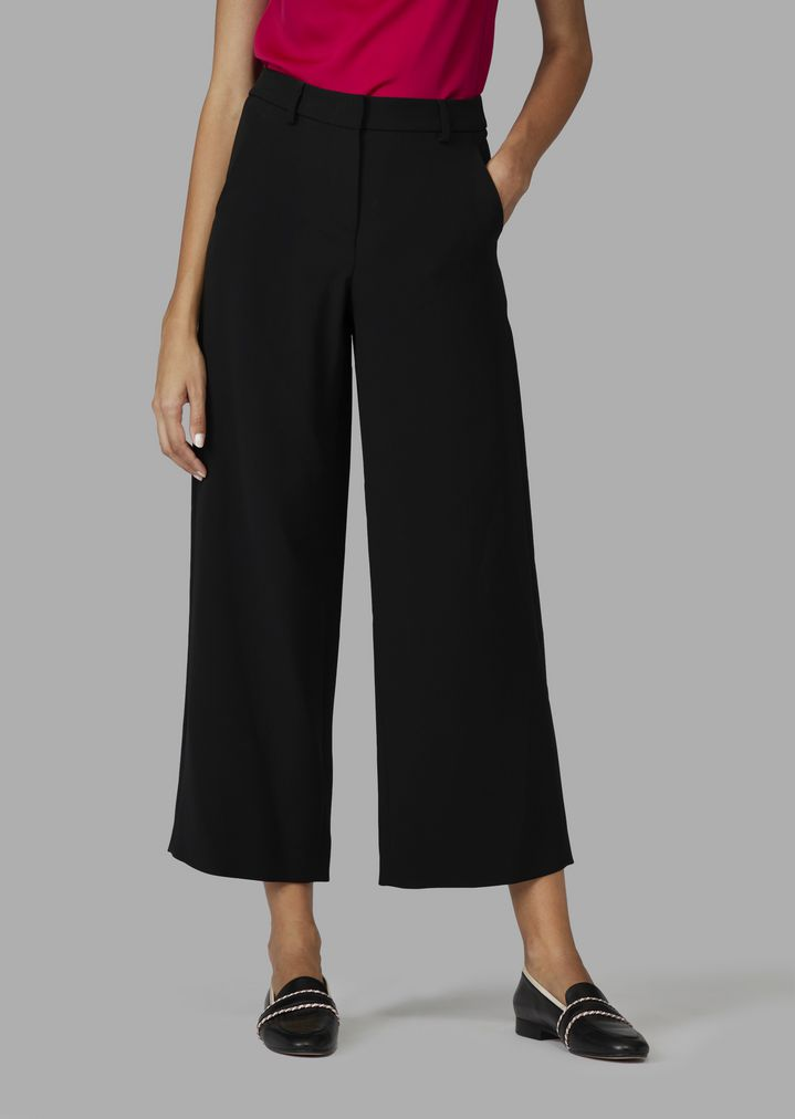 d480df4962c Pure silk cropped palazzo trousers