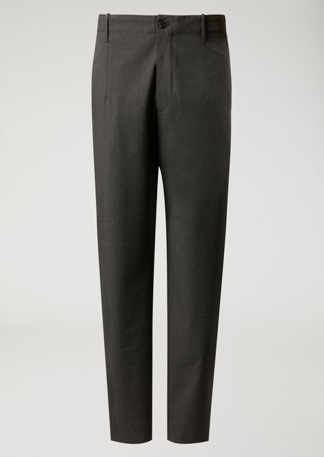 Trousers in stretch tech twill