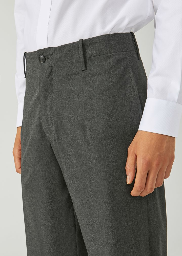 EMPORIO ARMANI Trousers in stretch tech twill Casual Trousers Man a