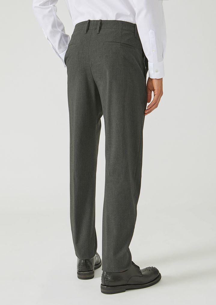 EMPORIO ARMANI Trousers in stretch tech twill Casual Trousers Man e