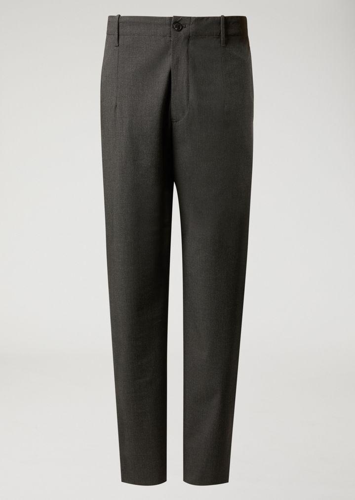 EMPORIO ARMANI Trousers in stretch tech twill Casual Trousers Man r