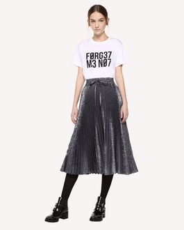 REDValentino Floral cloqué pleated skirt