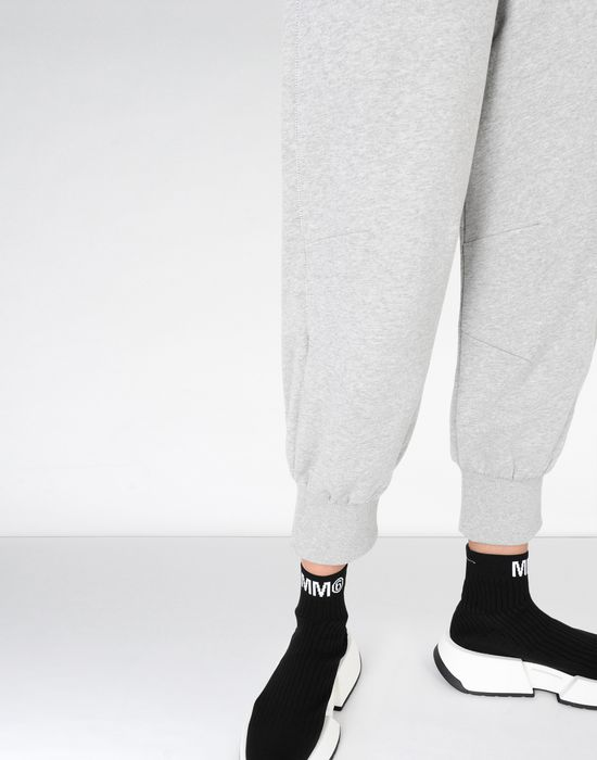 MM6 MAISON MARGIELA Cropped jersey joggers Casual pants [*** pickupInStoreShipping_info ***] a