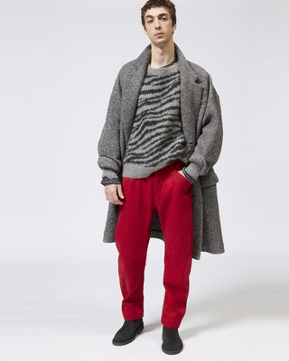 ISABEL MARANT PANT Man DYSTON cotton trousers r