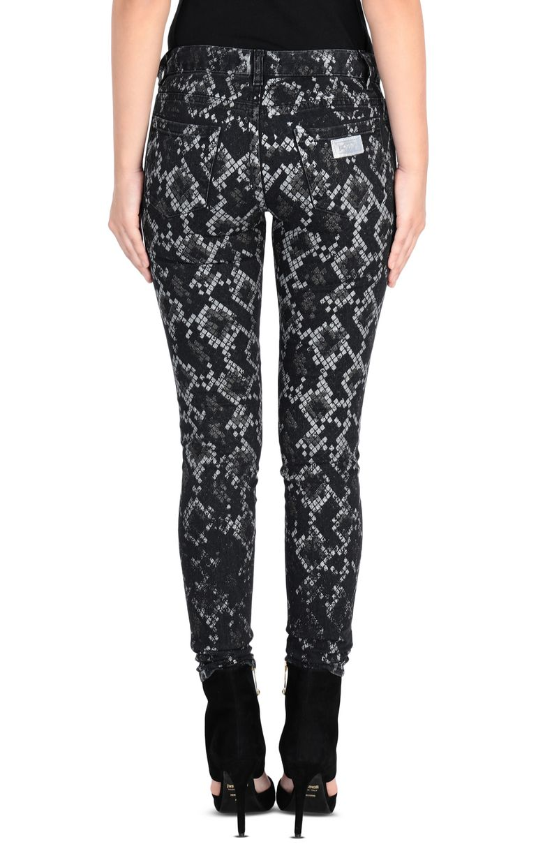 JUST CAVALLI 5-pocket python jeans Jeans [*** pickupInStoreShipping_info ***] d