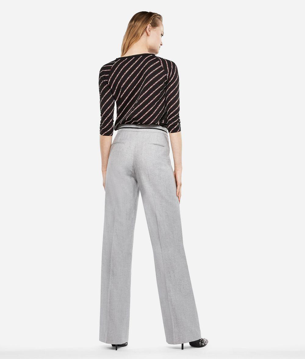 KARL LAGERFELD Elegante Hose aus einem Wolle-Mix Hose Damen d