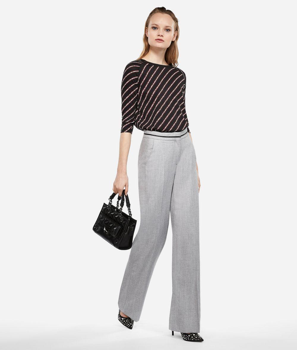 KARL LAGERFELD Elegante Hose aus einem Wolle-Mix Hose Damen f
