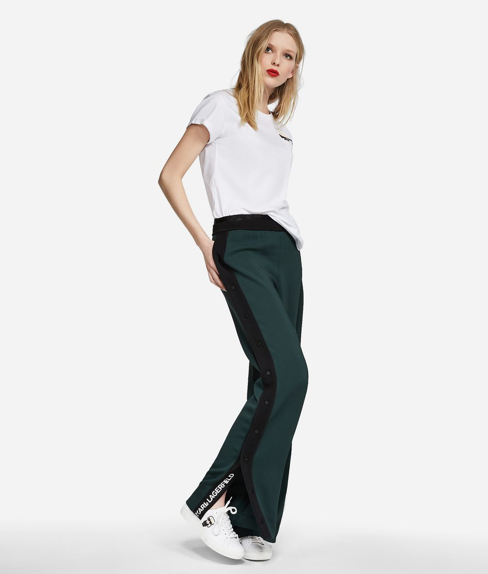 KARL LAGERFELD Wide Leg Logo Sweatpants Pants Woman f