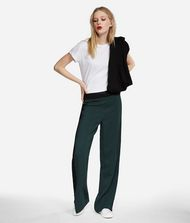 KARL LAGERFELD Wide Leg Logo Sweatpants Pants Woman a