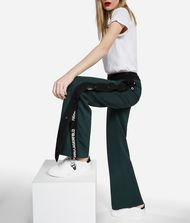 KARL LAGERFELD Wide Leg Logo Sweatpants Trousers Woman e