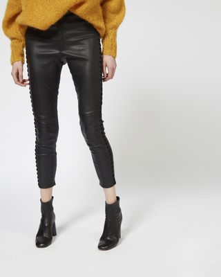 ISABEL MARANT PANT Woman MEDLEY leather leggings r