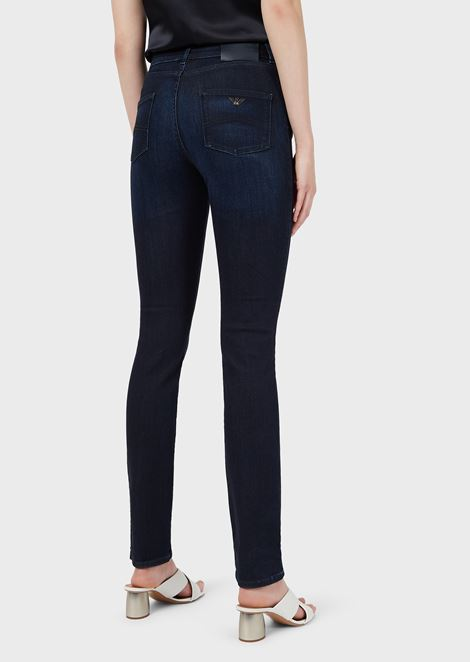 J18 super skinny high waist jeans in stretch denim