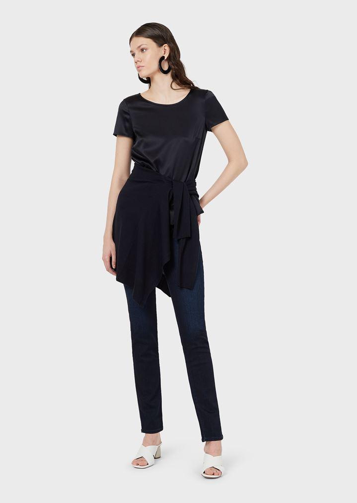 69768cc9bd5a J18 super skinny high waist jeans in stretch denim   Woman   Emporio ...