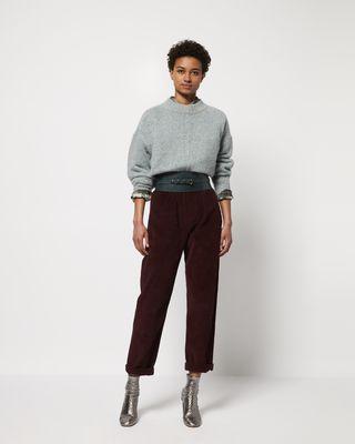 MELOY Pantaloni a gamba larga in velluto