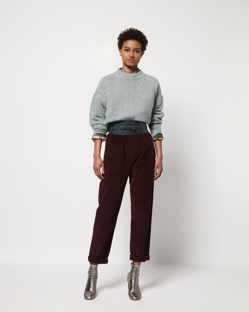 MELOY Pantaloni a gamba larga in velluto ISABEL MARANT