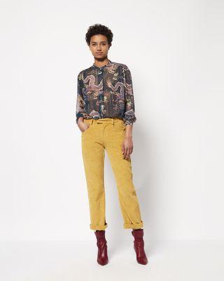 MEREO velvet trousers