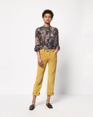 ISABEL MARANT PANT Woman MEREO velvet trousers r
