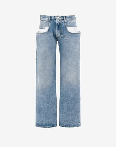 MAISON MARGIELA Straight jeans with contrasted pockets Jeans [*** pickupInStoreShipping_info ***] f