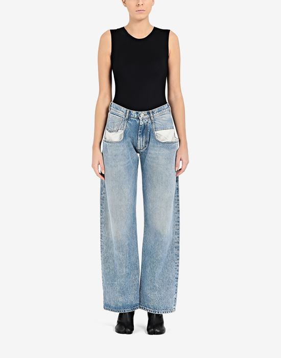 MAISON MARGIELA Straight jeans with contrasted pockets Jeans [*** pickupInStoreShipping_info ***] r