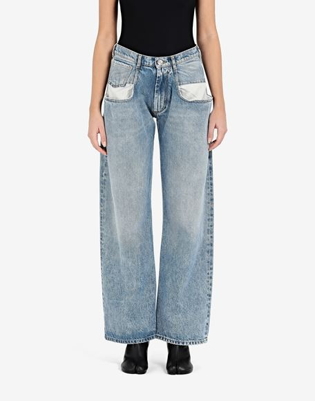MAISON MARGIELA Straight jeans with contrasted pockets Jeans Woman a